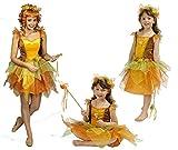 K31250427-140-152 waldfarben Kinder Feen Kostüm Damen Elfenkleid Gr.140-152