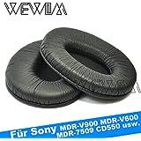 WEWOM 2 Hochwertige Ersatz Ohrpolster für Sony MDR-V900 MDR-V600 MDR-7509 Hifi Kopfhörer
