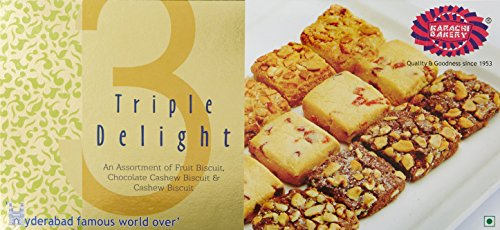 Karachi Bakery Triple Delight Fruit Biscuit with Chocolate and Cashew,...