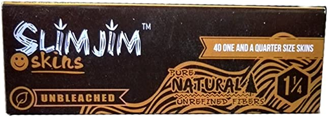 6 booklets of Slimjim Skins - Browns 1 1/4th Rolling Paper