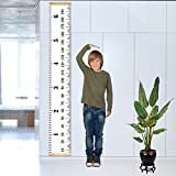 "YiCoo Kids Growth Chart Children Height Chart Canvas Wall Hanging Measuring Rulers Tape for Baby Infant Kids Toddlers Boys Girls Room Decoration 7.9"" x 79"""