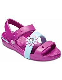 Crocs Girls Keeley Petal Charm Sandal PS Vibrant Violet