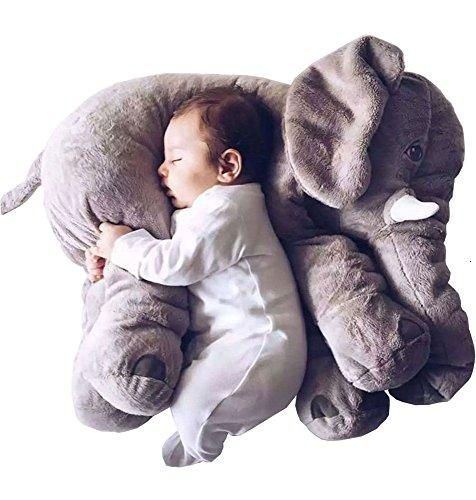 smartpillow Xxl Elefant Kuscheltier Baby I 60cm Plüschtier Groß Grau Geschenk Für Baby Kinder Kissen