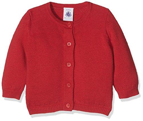 Petit Bateau Baby-Mädchen Strickjacke Cardigan, Rot (Froufrou 79), 86 (Herstellergröße: 18m/81cm) (Pullover Mädchen Strickjacke)
