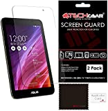 [Pack of 2] TECHGEAR® Asus MeMO Pad 7 (ME176CX) CLEAR LCD Screen Protectors With Cleaning Cloth + Application Card