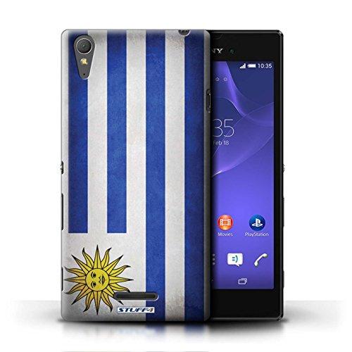 Kobalt® Imprimé Etui / Coque pour Sony Xperia T3 / Finlande/finlandais conception / Série Drapeau Uruguay/Uruguayen