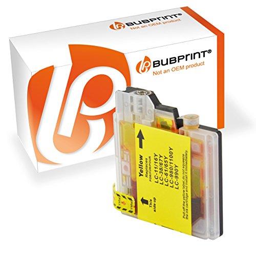 Preisvergleich Produktbild Bubprint Patrone Yellow kompatibel für Brother LC1100 LC980 LC-1100 LC-980