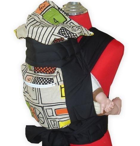 Palm and Pond Mei Tai fascia portabebè con cappuccio e tasca - Arte moderna