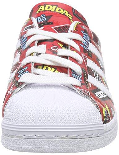 adidas - Superstar Nigo Allover Print, Scarpe da ginnastica Unisex - Adulto Rosso (Rot (Scarlet/Ftwr White/Bluebird))