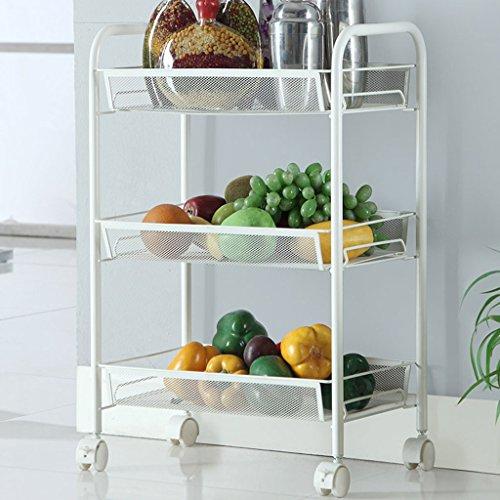 &étagère de rangement Rack de stockage à plusieurs étages de cuisine salon multi-usages haute charge-roues mobiles étagère de rack de voiture mobile Rack de finition (Size : 3)