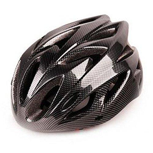 Gezichta Casque de vélo Réglable VTT Cyclisme VTT Mousse de polystyrène expansé Anti-chocs Pour homme et femme Protection Sécurité 11couleurs (Noir carbone)