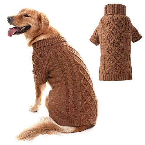 PUPTECK Puptec Hundepullover mit Zopfmuster, klassisch, für den Winter, 2 Farben