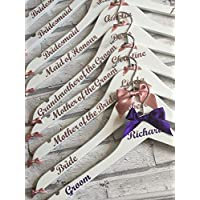 Wedding Hangers Personalised Bridal Hangers by CleverCHIC