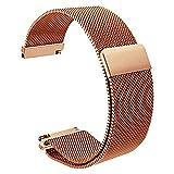 14mm milanese Schleife Uhrenarmband Magnet voll Schließung Spange Edelstahl Metallarmband Rotgold