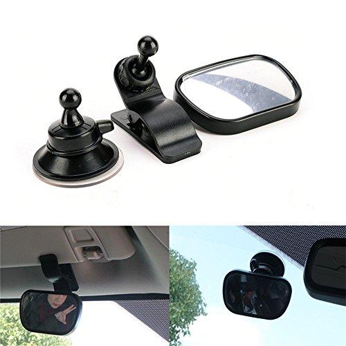 Haosen Rücksitzspiegel für Babys Auto Baby Rearview Spiegel Babyspiegel für Babys Auto Rückspiegel Zusätzliche Spiegel für Kinder - 360 Grad einstellbar Acryl Kunststoffspiegel,Sicher und bequem (Schwarz)