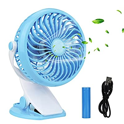 Clip on Fan, Innislink Mini Desk Fan Portable Rechargeable Battery Operated for Laptop Table Workout Baby Stroller Car Camping Home Office Table USB Fan Battery Fan Clip Fan Desk Fan - cheap UK light store.