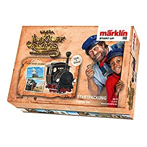 """51mN7ncRrNL. SS300  - Märklin Modelleisenbahn Start up 29179 - Startpackung """"Jim Knopf"""", Modellbahn Spur H0 Startset, Eisenbahn mit Lokomotive"""
