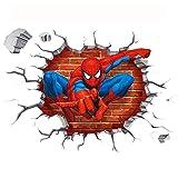 JUNMAONO Spiderman Pegatina De Pared/PVC Póster De Pared/Mural/Decoración Vinilo Calcomanías Etiqueta De La Pared/Mural De Pintura/Etiqueta Engomada/Papel Pintado/Empapelado/Periódico De Pared