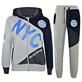 A2Z 4 Kids Enfants Garçons Survêtement - T.S NYC Project Grey & Blue 9-10