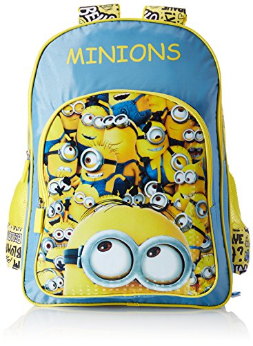 Minion Polyester Blue and Yellow School Bag (Age group :6-8 yrs)