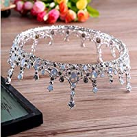 Tiara Hair Ornaments Bride Ornaments Crown Female Head Flower Coil Hair Aesthetics Simplicity Nobleness Delicacy Elegance Holiness Dress Accessories,Silvery