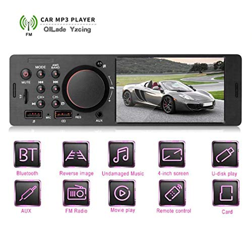 Rm Video Converter (QILade Yzcing 1Din 4,1 Zoll Auto In-Dash Radio Stereo Bluetooth LCD Touchscreen FM Radio MP4 / MP5-Player Auto-Freisprecheinrichtung AUX Radio Stereo mit Fernbedienung)