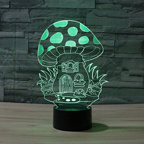 3d ilusión lámpara jawell luz de noche Seta 7colores cambiantes Touch USB...