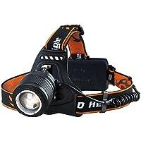 VTIN Linterna Frontal LED de VicTsing, Linterna de Cabeza Luz Frontal Lámpara con 2 Pilas, 4 Modos Utilizan 6 Horas, Camping, Pesca, Ciclismo, Carrera, Caza y Más