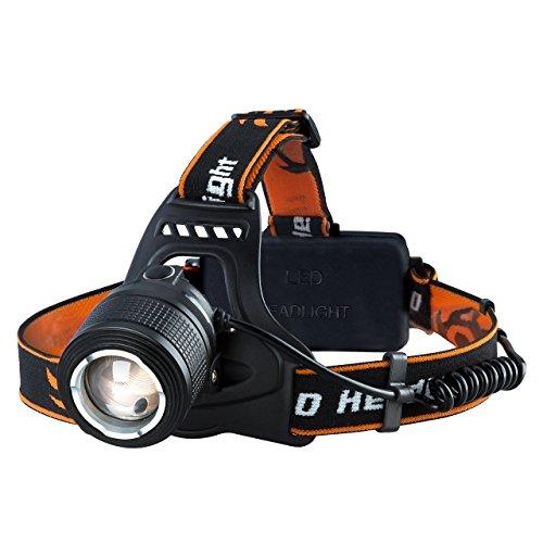 VTIN Linterna Frontal LED de VicTsing, Linterna de cabeza Luz Frontal Lámpara con 2 Pilas, 4 Modos Utilizan 6 HORAS, Perfecto para Camping, Pesca, Ciclismo, Carrera, Caza y Más