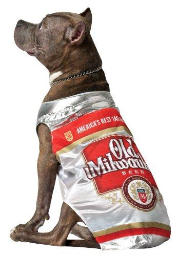Rasta Imposta Old Milwaukee Bier kann Hund Kostüm, (Bier Kann Hunde Kostüm)
