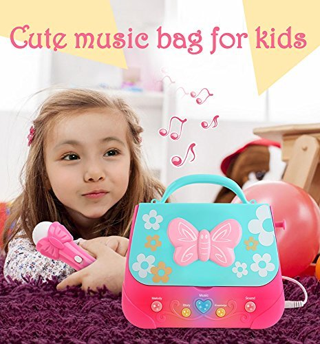 IB SOUND Kids Karaoke Machine, Best Karaoke Machine with CD Player & 2 Karaoke Microphone Upgraded Karaoke System MP3 & USB Player Perfect for Kids Gift