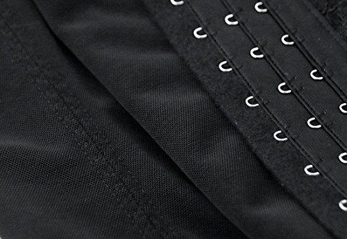 Charmian Women's Latex Underbust Waist Training Steel Boned Shapewear Corset Schwarz
