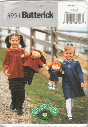 cabbage-patch-kids-doll-16-20-butterick-3954-sewing-pattern-matching-2345-girls-clothing-by-cabbage-