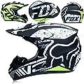 SK-LBB Motorrad helm Motocross Helme City Helme BMX Helme Motorrad Crosshelme, Kreative Persönlichkeit Lokomotive Mountainbike Helm, Handschuhe maske Brille (Set von 4) (L)