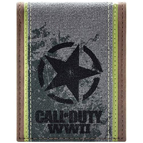 Zubehör Kostüm Ref - Call of Duty WWII Case-Ref 07222009 Braun Portemonnaie Geldbörse