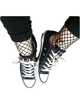 SKY Medias de rejilla medias de red orificio Elegante mujeres calcetines de encaje Fishnet tobillo corto calcetines...