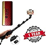 Starford Selfie Stick Extendable Handheld Monopod Self Portrait With Zoom Bluetooth Shutter With Powerful D-Era Power Bank 13000 Mah With LED Indicators Compatible With All Smartphones (One Year Warranty)