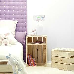 table de chevet caisse en bois x1 avec tablette fabriqu e main en france. Black Bedroom Furniture Sets. Home Design Ideas