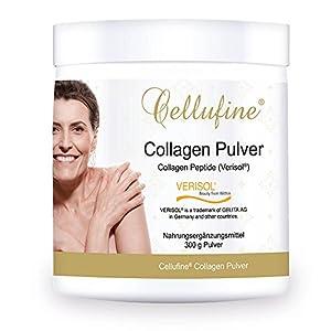 Cellufine Premium Collagen Pulver mit VERISOL Collagen Peptiden   300 g Pulver   Deutsches Markenprodukt