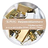 herlitz 50021840 Vielzweckklammern Pure Glam, 3 Größen sortiert, 1 Dose
