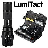 Lumitact G700 LED Taktische Taschenlampe, 5 Modi Wiederaufladbar Taschenlampen aufladbar Super hell 1000 Lumen Fackel mit Zoom für Camping, Wandern und Notfälle ( Inklusive 18650 Batterie )