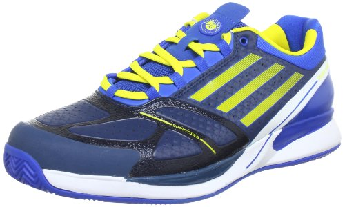 adidas Performance  Adizero Feather II Clay,  Scarpe da tennis uomo Blu (Blau (Sub Blue S13 / Vivid Yellow S13 / Prime Blue S12))