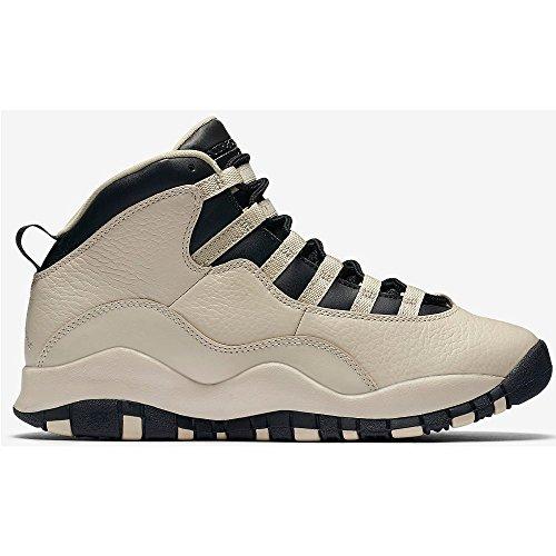 Nike Damen Air Jordan 10 Retro Prem Gg Basketballschuhe Blanco (Blanco (Pearl White / Black-Black))