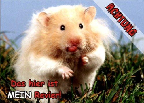 INDIGOS UG - Türschild FunSchild - SE833 DIN A5 laminiert ACHTUNG Hamster - für Käfig, Zwinger, Haustier, Tür, Tier, Aquarium (Geschlossen Hamster Käfige)