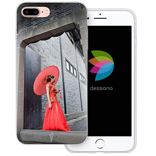 dessana China Metropole Transparente Schutzhülle Handy Case Cover Tasche für Apple iPhone 7 Plus Cheongsam ()