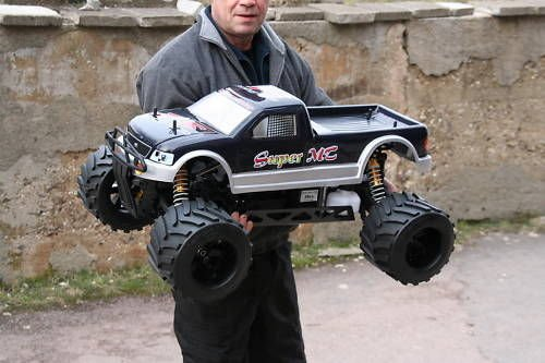 RC Auto kaufen Monstertruck Bild 2: RC MEGA MONSTER TRUCK 1:4 4X4 RTR 35ccm 4PS 80Km/h VERBRENNER 1:5 NEUHEIT*