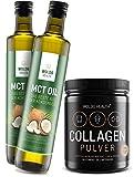 WoldoHealth 500g Kollagen Protein-Pulver und 2x 500ml MCT Öl aus Kokosöl