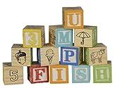 30 Holzwürfel Buchstaben und Zahlen mit Alphabet und weiteren Symbolen - Kantenlänge 3 cm