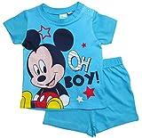 Mickey Mouse Kollektion 2018 Schlafanzug 68 74 80 86 92 Jungen Shorty Pyjama Shortie Disney Maus (Hellblau, 80-86)