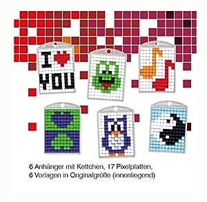 Pracht Creatives Hobby P90006-63501 - Juego de Manualidades para Manualidades (1, para 6 medallones, Llavero, para niños, niños y niñas, Ideal como pequeño Regalo, para cumpleaños Infantiles)